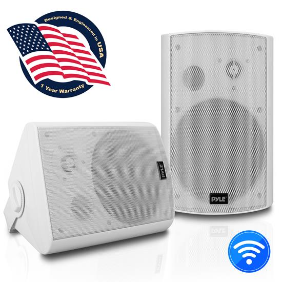 Pyle - UPDWR61BTWT , Home and Office , Speakers , Bluetooth Wall Mount Waterproof & Bluetooth 6.5'' Indoor / Outdoor Speaker System, White