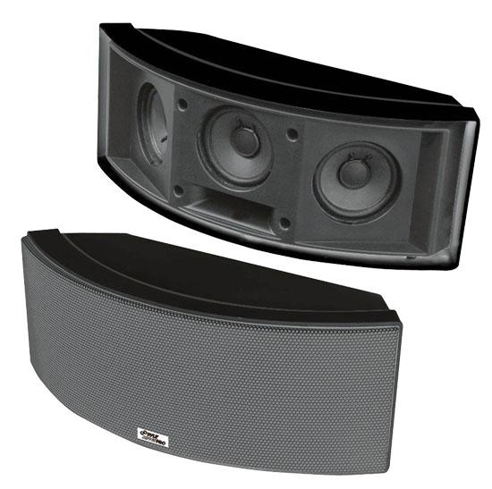 Pyle - PDWR68B , Used , 500 Watt 3 Way Black Indoor/Outdoor Waterproof Center Channel Speakers (Black)