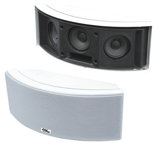 Pyle - PDWR68W , Home and Office , Home Speakers , Sound and Recording , Home Speakers , 500 Watt 3 Way  Indoor/Outdoor Waterproof Center Channel Speaker (White)
