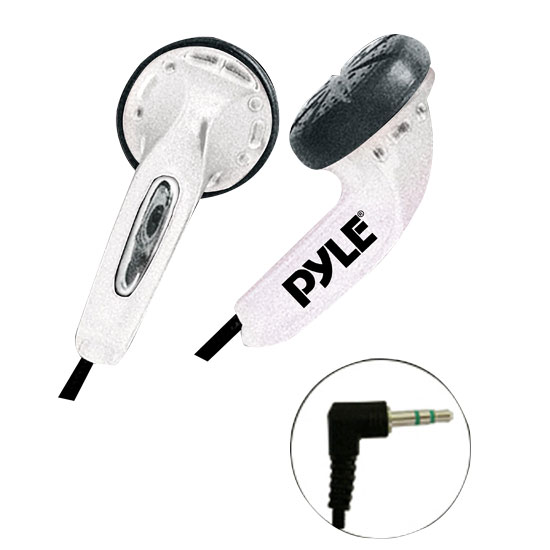 Pyle - PEBH25WT , Home Audio / Video , Headphones , Ultra Slim In-Ear Ear-Buds Stereo Bass Headphones For Ipod/MP3/All Audio source Players (White)