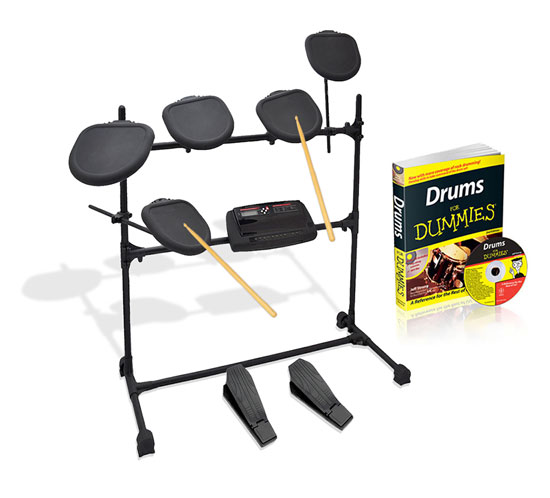 Pyle - PED07 , Musical Instruments , Drum Kits , Professional Electronic Drum Kit - All-in-One Drumming System with Drums for Dummies Instructional CD & Book