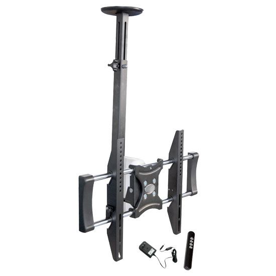 Pyle - PETR105 ,  , 26'' To 42'' Motorized Universal Flat Panel TV Tilted Ceiling Mount