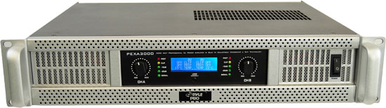 Pyle - PEXA3000 , DJ Equipment , Power Amplifiers , 19'' Rack Mount 3000 Watt Professional  Power Amplifier w/ Digital SMT Technology