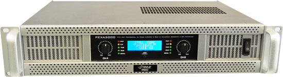 Pyle - PEXA5000 , DJ Equipment , Power Amplifiers , 19'' Rack Mount 5000 Watts Professional Digital Power Amplifier w/SMT Technology