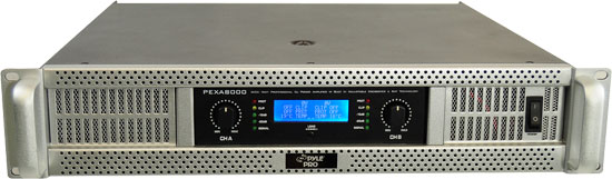 Pyle - PEXA8000 , DJ Equipment , Power Amplifiers , 19'' Rack Mount 8000 Watts Professional Power Amplifier w/ Digital SMT Technology