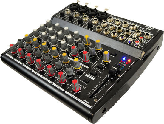 Pyle - PEXM1202 , Sound and Recording , Mixers - DJ Controllers , 12 Channel Professional Audio Mixer with 3 Band EQ