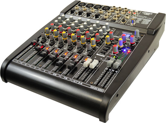Pyle - PEXM1204 , DJ Equipment , DJ Mixers , Studio Grade 24 Bit 12 Channel Stereo Mixer w/Built-In FX Processor/Digital Effects