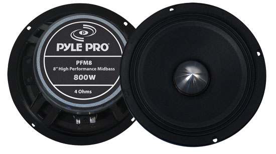 Pyle - PFM8 , DJ Equipment , Midbass/Midrange Speakers/Woofers  , 8'' High Power High Performance Midbass