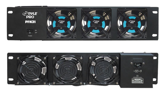 Pyle - PFN31 , Home and Office , Cooling Fans , Sound and Recording , Cooling Fans , 19'' Rack Mount Cooling  Fan System