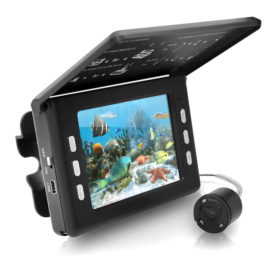 Pyle - PFSHCMR1 , Gadgets and Handheld , Cameras - Videocameras , Underwater Waterproof Fishing Camera and Video Record System with Night Vision Sensors, 30 Mega Pixels and 3.5'' inch LCD Display