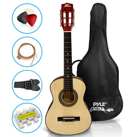 Pyle - PGAKT30 , Musical Instruments , Guitars , 30'' Inch Beginner Jamer, Acoustic Guitar w/ Carrying Case & Accessories