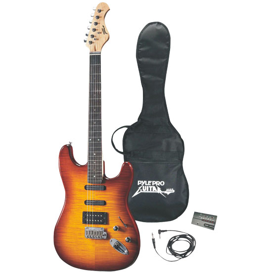 Pyle - PGE55 , Musical Instruments , Guitars , Professional 42'' Deluxe Sunburst Finish Electric Guitar