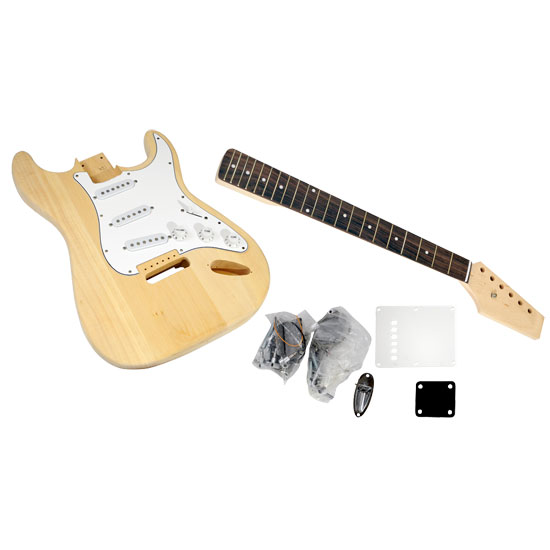 Pyle - PGEKT18 , Musical Instruments , Guitars , Unfinished Strat Electric Guitar Kit - You Build The Guitar