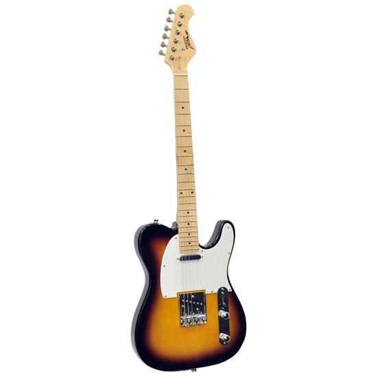 Pyle - PGEKT35 , Musical Instruments , Guitars , Professional Full Size 6 String Electric Guitar w/ Sunburst Finish