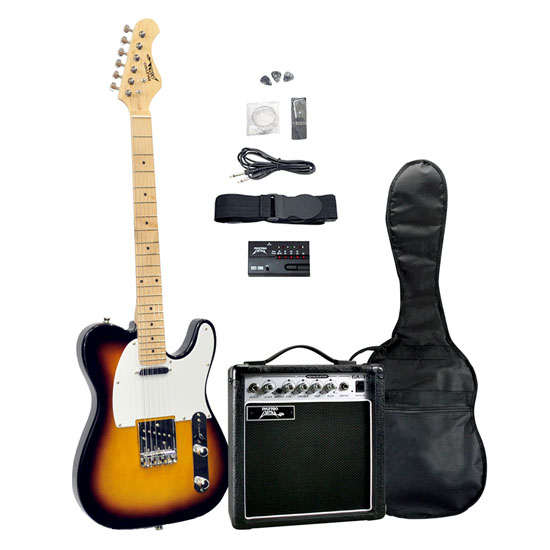 Pyle - PGEKT46 , Musical Instruments , Guitars , 42'' Electric 6-String Guitar and Amplifier Kit