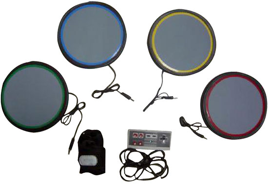 Pyle - PGMDK40 , Musical Instruments , Drums , UNIVERSAL Table-Top DRUM KIT for PS2/PS3/WII ROCKBAND GAMES