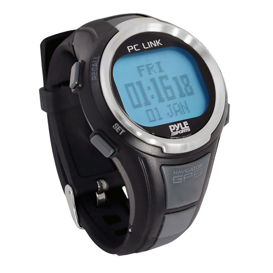 Pyle - PGSPW1 , Sports and Outdoors , Watches , GPS Heart Rate Monitor Digital Sports Watch With Speedometer, Chronograph, And Navigation