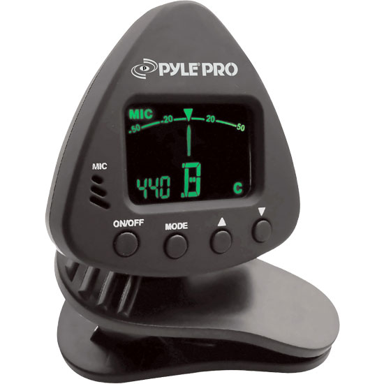 Pyle - PGT10 , Musical Instruments , Instrument Accessories , Mini Clip-On Tuner For Chromatic/Guitar/Bass/Violin