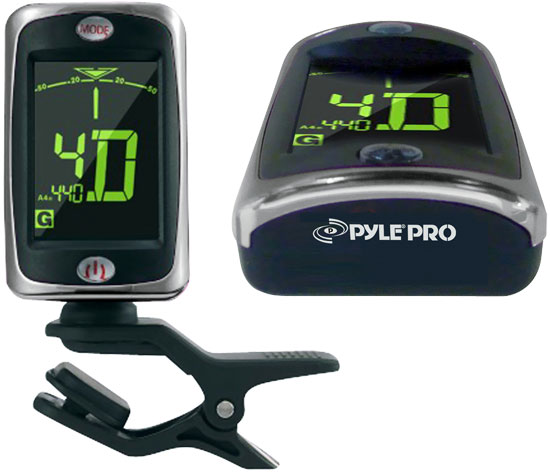 Pyle - PGT20 , Musical Instruments , Musician Accessories , Clip On Tuner For Guitar, Bass, Violin, Chromatic