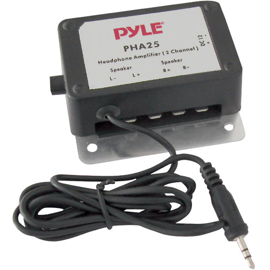 Pyle - PHA25 , Sound and Recording , Amplifiers - Receivers , 3.5mm / 1/8'' 2 Channel 300 Watt Stereo Audio Amplifier