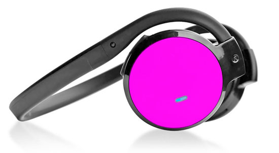 Pyle - PHBT5P , Gadgets and Handheld , Headphones - MP3 Players , Sound and Recording , Headphones - MP3 Players , Stereo Bluetooth Streaming Wireless Headphones with Built-in Microphone - Works with All Bluetooth-Enabled Phones & Devices (Pink)