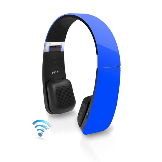 Pyle - PHBT6BL , Home Audio / Video , Bluetooth Devices , Sound 6 Bluetooth 2-in-1 Stereo Headphones with Built-in Mic for Call Answering and Easy-Touch Digital Controls (Blue Color)