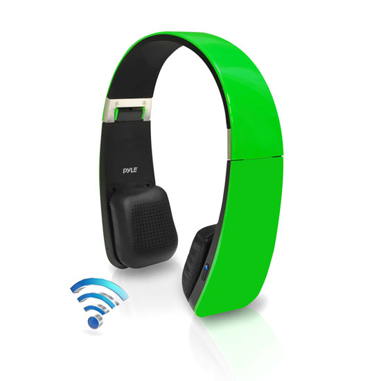 Pyle - PHBT6G , Gadgets and Handheld , Headphones - MP3 Players , Sound and Recording , Headphones - MP3 Players , Sound 6 Bluetooth 2-in-1 Stereo Headphones with Built-in Mic for Call Answering and Easy-Touch Digital Controls (Green Color)