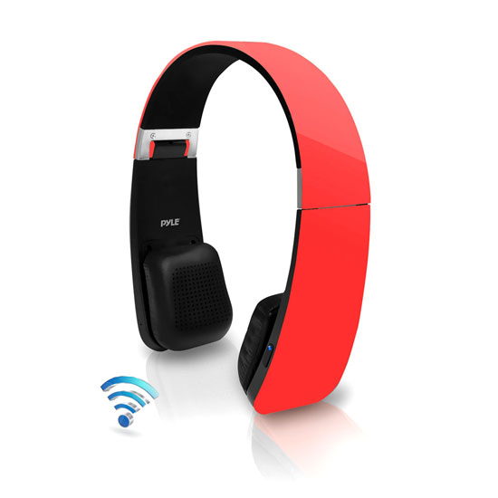 Pyle - PHBT6R , Home Audio / Video , Bluetooth Devices , Sound 6 Bluetooth 2-in-1 Stereo Headphones with Built-in Mic for Call Answering and Easy-Touch Digital Controls (Red Color)
