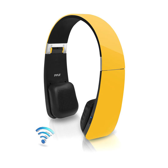 Pyle - PHBT6Y , Home Audio / Video , Bluetooth Devices , Sound 6 Bluetooth 2-in-1 Stereo Headphones with Built-in Mic for Call Answering and Easy-Touch Digital Controls (Yellow Color)