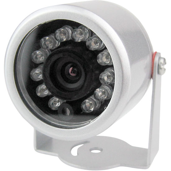 "Pyle - PHCM34 , Home and Office , TVs - Monitors , Color Video Surveillance Outdoor Night Vision Camera, 1/4"" CMOS 420TVL, 12V/500mA Power adapter"