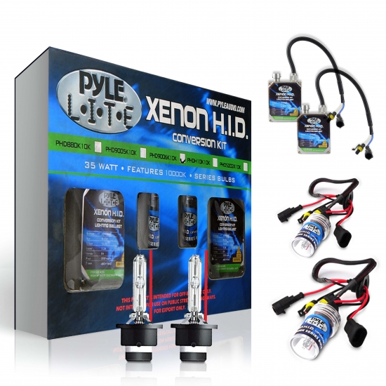 Pyle - PHD9006K6K , Performance Parts , HID Xenon Conversion Kits , 6,000K Single Beam 9006 HID Xenon Driving Light System