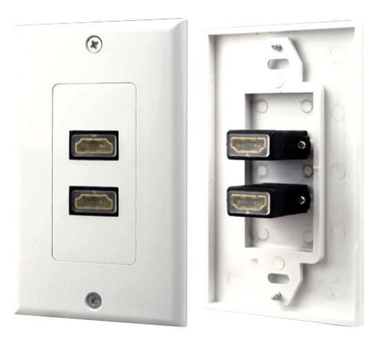 Pyle - PHDMF2 , Home and Office , Wall Plates and In-Wall Control , Dual HDMI Wall Plate