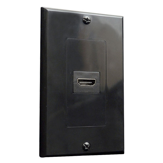 Pyle - PHDMIB1 , Home Audio / Video , Wall Plate Covers , Single HDMI Wall Palte 90 Degree Exit Port