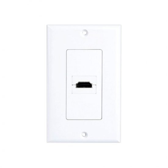 Pyle - PHDMIW1 , Home and Office , Wall Plates - In-Wall Control , Single HDMI Wall Plate 90 Degree Exit Port
