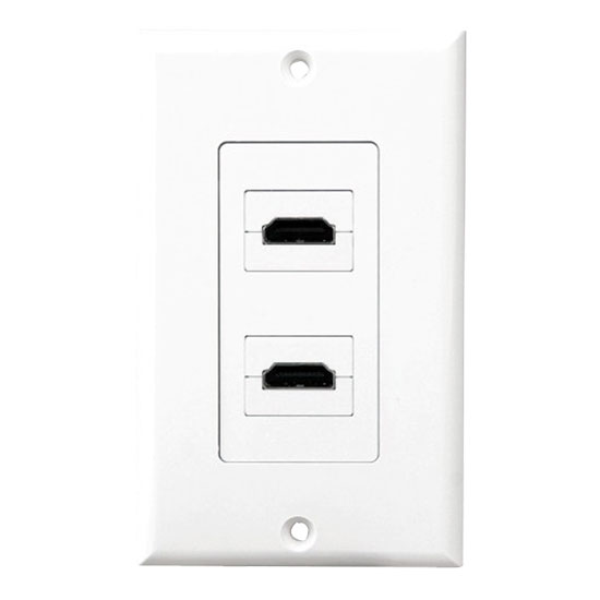 Pyle - PHDMIW2 , Home and Office , Wall Plates - In-Wall Control , Dual HDMI Wall Plate 90 Degree Exit Ports