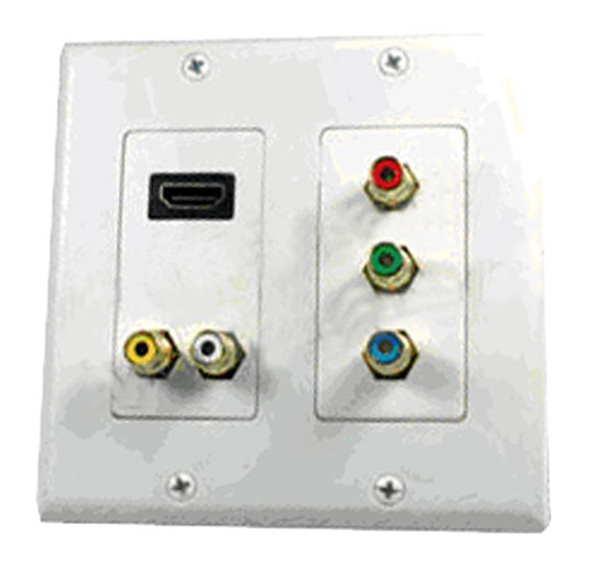 Pyle - PHDMIW6 , Home and Office , Wall Plates and In-Wall Control , HDMI + 2 RCA + 3 RCA Double Wall Plate