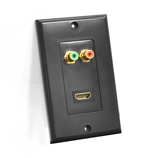 Pyle - PHDMRBC2 , Home and Office , Wall Plates and In-Wall Control , HDMI/Stereo (Dual) RCA Audio Combo Wall Plate