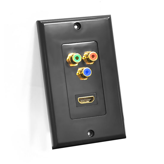 Pyle - PHDMRBC3 , Home and Office , Wall Plates - In-Wall Control , HDMI/ 3 (RGB/RCA) Component Combo Wall Plate