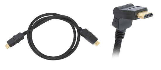 Pyle - PHDMRT6 , Home and Office , Cables - Wires - Adapters , Sound and Recording , Cables - Wires - Adapters , 6FT Horizontal Swivel High Definition HDMI Cable w/ Heavy-Duty Fiber Shielding