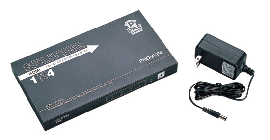 Pyle - PHDMSP4 , Home and Office , Cables - Wires - Adapters , Sound and Recording , Cables - Wires - Adapters , HDMI High Definition 4-way Video Distribution Splitter