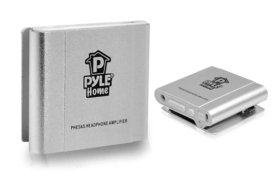 Pyle - PHE5AS , Personal Electronics , Headphone Amplifiers , Bass Boosting Portable Headphone Amplifier (Silver Color)
