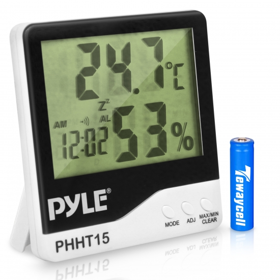 Pyle - PHHT15 , Home and Office , Tools and Meters , Indoor Digital Hygro-Thermometer