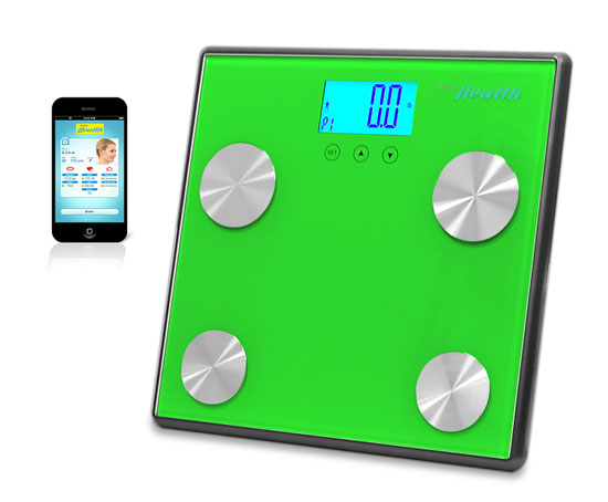 Pyle - PHLSCBT4GN , Health and Fitness , Weight Scales , Bluetooth Digital Weight and Personal Health Scale with Wireless iPhone, Android, Smartphone Data Transfer and Pyle Health App Fitness Tracker (Green)