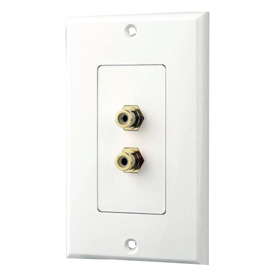 Pyle - PHRCA2 , Home and Office , Wall Plates and In-Wall Control , Dual Stereo RCA Wall Plate