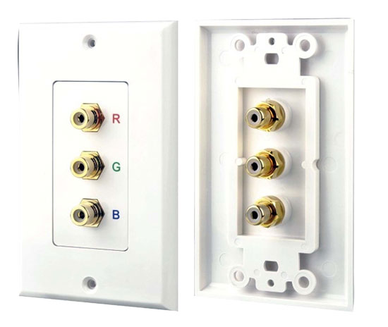 Pyle - PHRCOMP3 , Home Audio / Video , Wall Plate Covers , 3 RGB/RCA Component Wall Plate