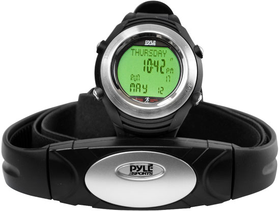 Pyle - PHRM20 , Sports and Outdoors , Watches , Gadgets and Handheld , Watches , Marathon Heart Rate Watch W/USB and Walking/Running Sensor
