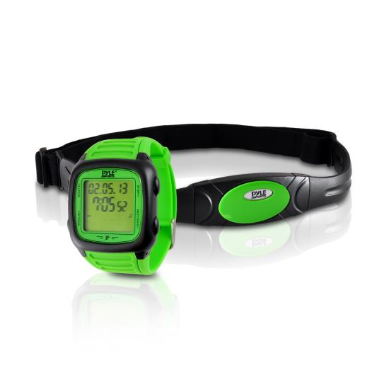 Pyle - PHRM76GN , Sports and Outdoors , Watches , Gadgets and Handheld , Watches , Heart Rate Speed & Distance Wrist Watch