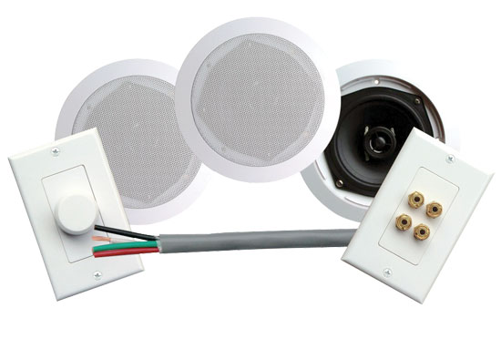 Pyle - PHSKIT5 , Home Audio / Video , In-Wall/Ceiling Speakers , 200 Watts 5 1/4  Dual In-Ceiling Speaker /Volume Contro/Speaker Wall Plate/Wiring Combo Speaker System