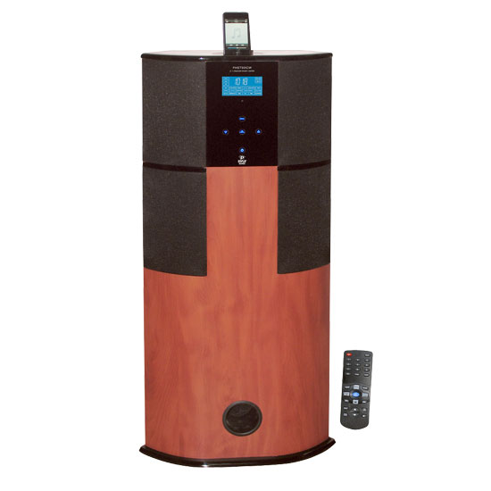 Pyle - PHST90ICW , Home Audio / Video , iPod Tower Systems , 600 Watt Digital 2.1 Channel Home Theater Tower w/ iPod/iPhone Docking Station - Cherry Wood Finish