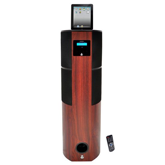 Pyle - PHST96IPCW , Sound and Recording , SoundBars - Home Theater , 600 Watt Digital 2.1 Channel Home Theater Tower w/ Docking Station for iPod/iPhone/iPad (Cherry Wood Color)